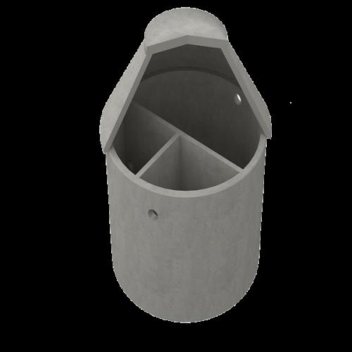 Slamavskiljare i betong - Tranåsbrunnen i stålfiberbetong - En trekammarbrunn för ett hushåll